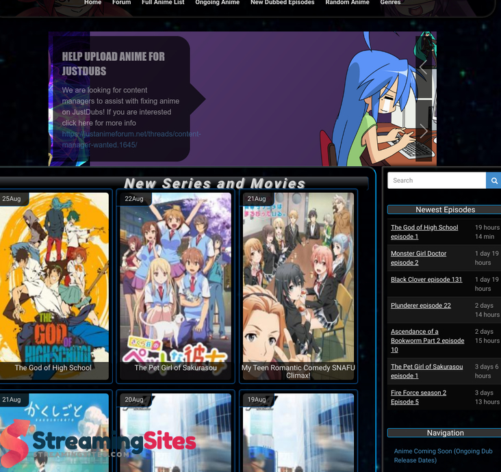 justdubs anime streaming sites