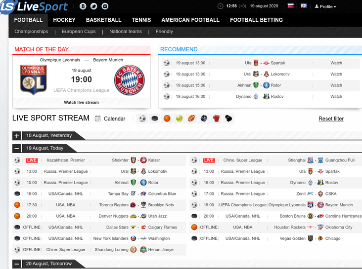 livesport.ws free sports streaming sites