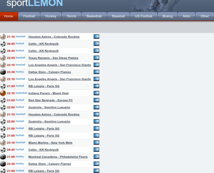 Sportlemons.com free sports streaming sites