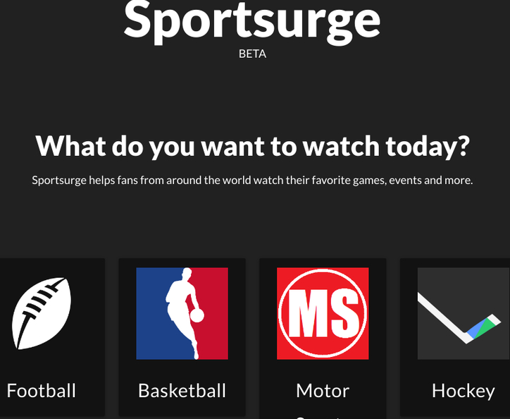 Sportsurge free sports streaming sites