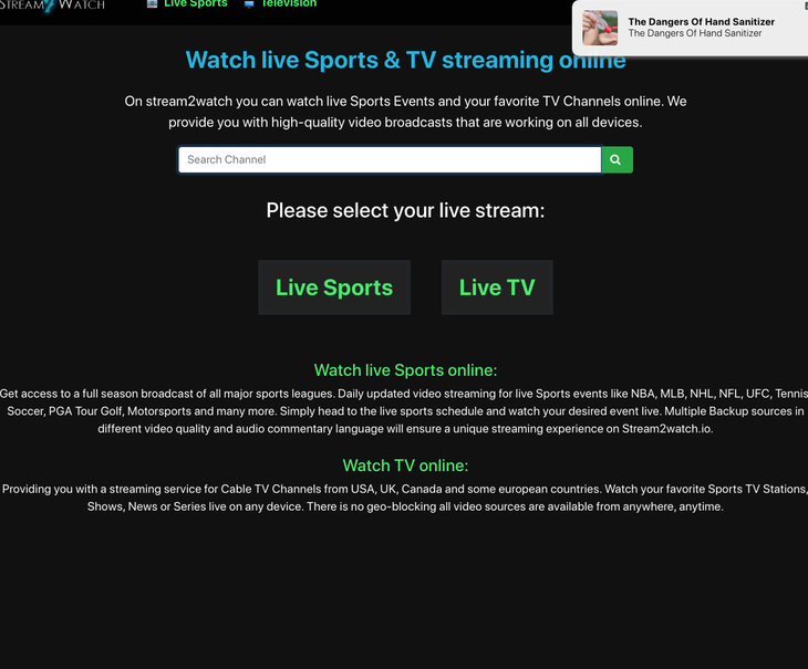 Stream2watch free sports streaming sites