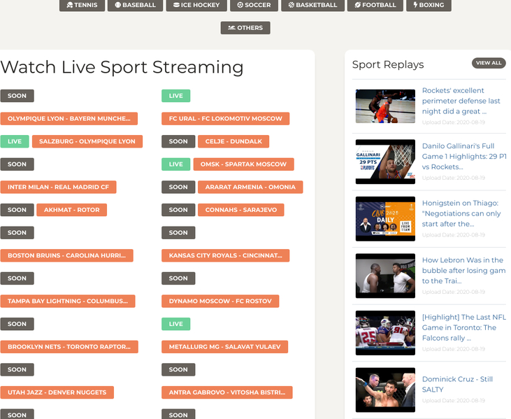 Streamwoop.live free sports streaming sites