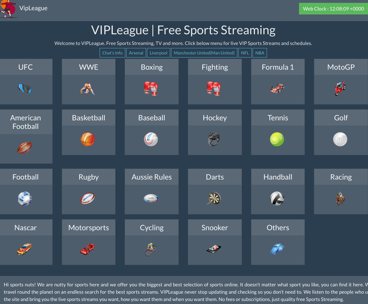 vipleague.lc free sports streaming sites