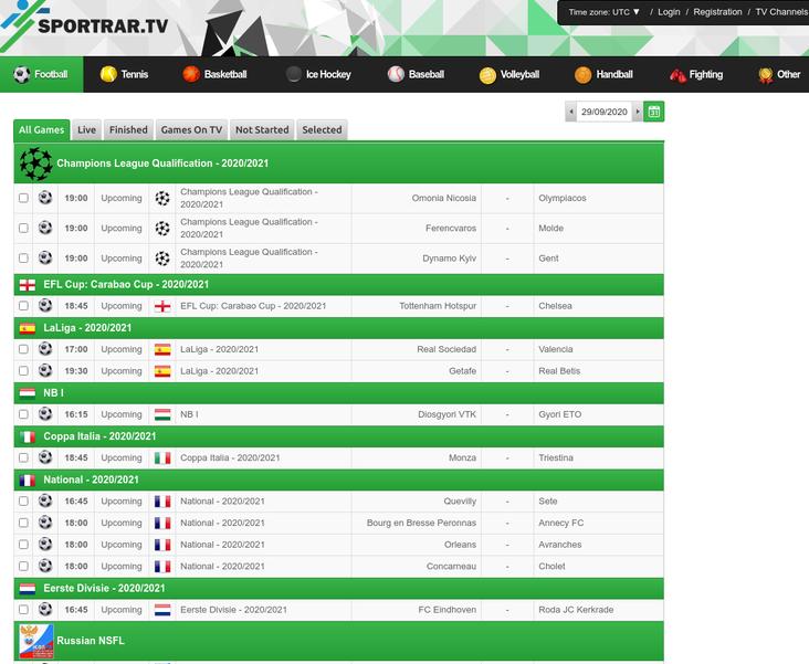 SportRar.tv free sports streaming sites